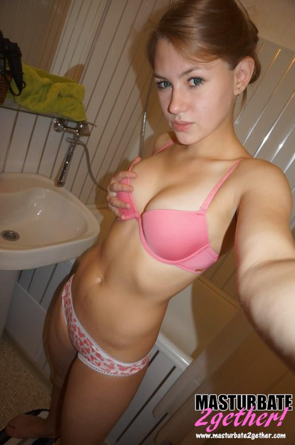 Sexy, toned body in cute pink panties and bra.