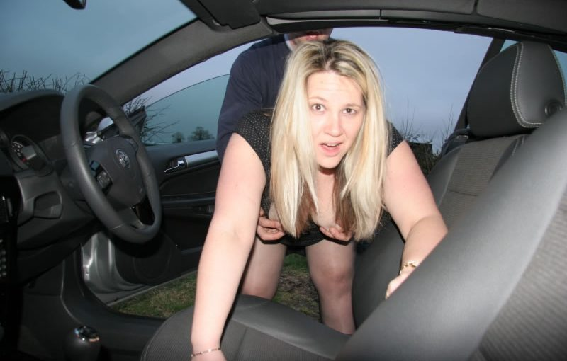UK exhibitionist and dogging Milf Rachel gets spit roasted by strangers