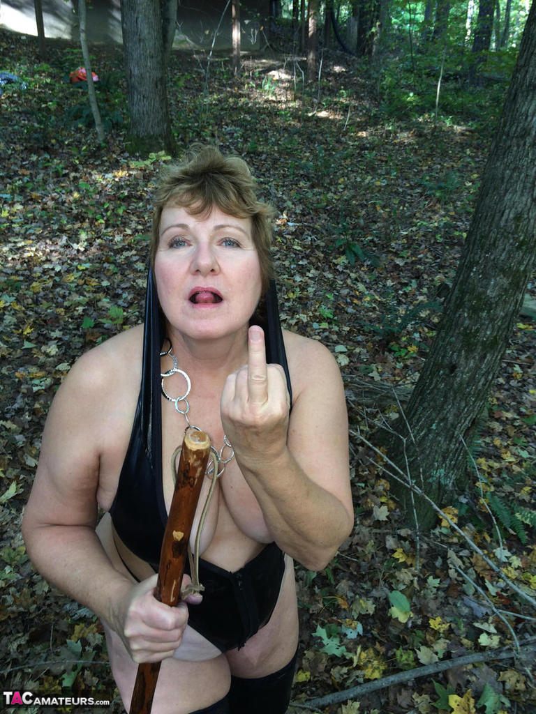 Mature nude women woods